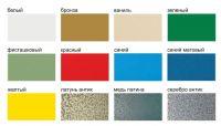 Таблица окраски изделий из металла