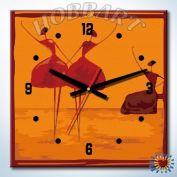 """Часы - картина по номерам """"Балеринки"""""""