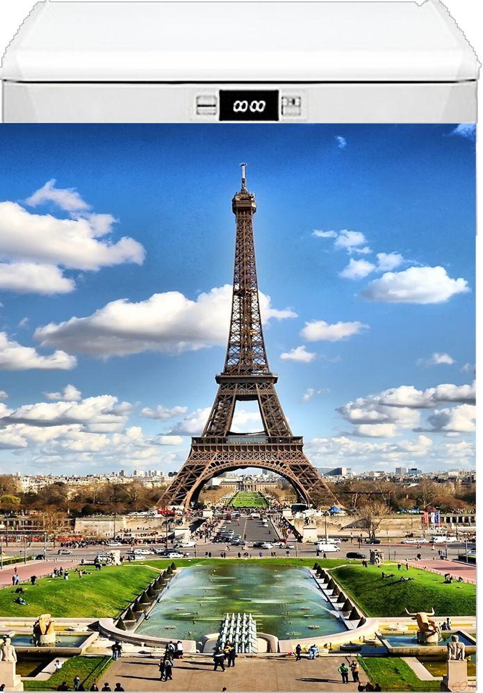 Наклейка на посудомоечную машину - Париж 2