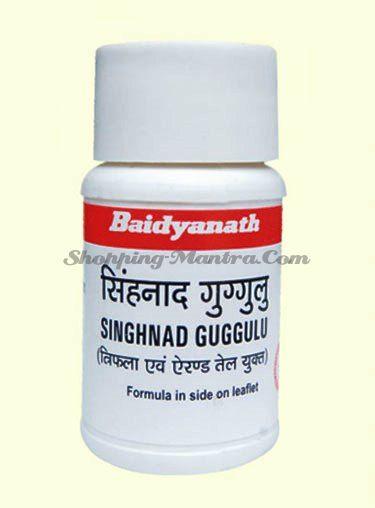 Сингхнад Гуггул для здоровья суставов и детоксикации Байдьянатх/Baidyanath Singhnad Guggulu