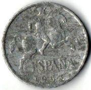 DIEZ CENTS ESPANA 1953 год.