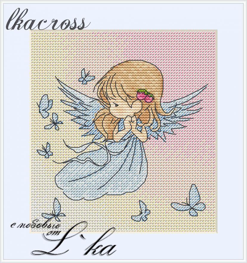 """""""Ангел"""". Схема/набор для вышивания крестиком."""