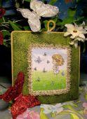 Схема для вышивки крестом Нежные иллюстрации - Розочка. Отшив