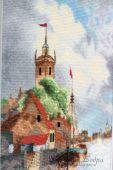 Схема для вышивки крестом Голландская гавань. Отшив