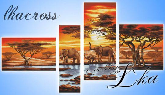 Слоны У Ручья