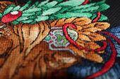 Схема для вышивки крестом Ловец снов - Лев2. Отшив