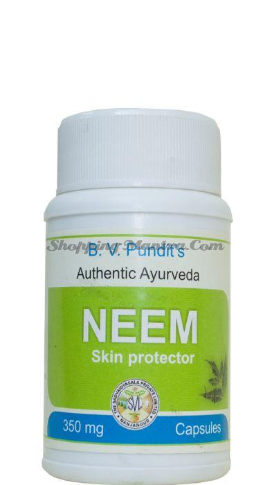 Ним для очищения крови и кожный заболеваний B.V.Pundit Neem Capsules