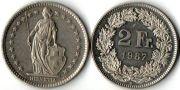 2 франка. 1987 год.