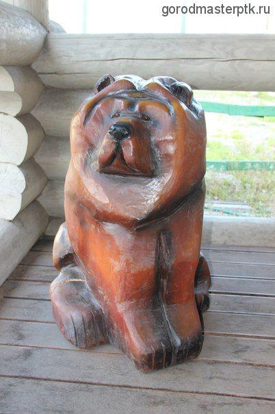 "Деревянная фигура ""Чау-чау сидячий """