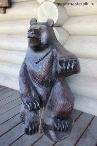 """Деревянная фигура """"Медведь малый"""""""