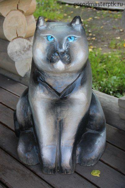 """Деревянная фигура """"Кошка сидячая"""""""