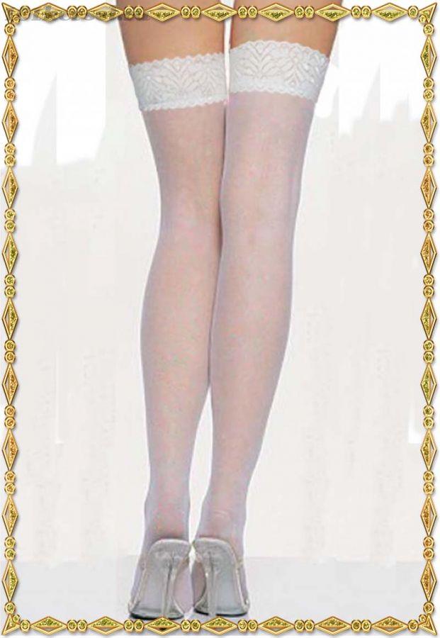 Белые чулки Beileisi с кружевной резинкой для подвязок