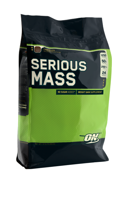 OPTIMUM NUTRITION Serious Mass 12lb (5,44кг.) Chocolate - шоколад скл2 1-2 дня