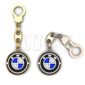 """Золотой брелок БМВ """"BMW""""."""