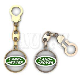"""Золотой брелок Ленд Ровер """"Land Rover""""."""