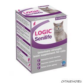 Logic Senilife Capsules 30 капсул - поддержка функций мозга для стареющих кошек - срок январь 2016 г.