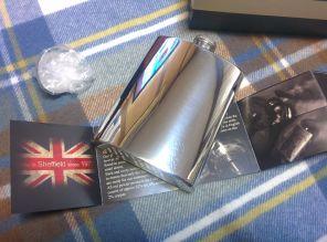 Фляжка из британского пьютера- Классика (без узора) ,  Plain Flask ,English Pewter