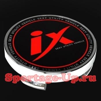 """Колпаки колёсных дисков для Hyundai, красная """"IX"""", T&R"""