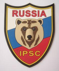 Нашивка IPSC RUS на велкро (контактная лента)