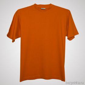 Мужская оранжевая футболка без рисунка NOVIC