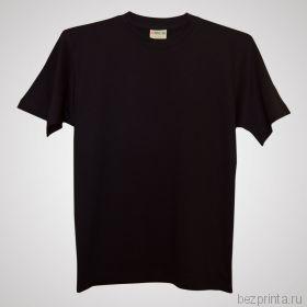 Мужская черная футболка без рисунка NOVIC