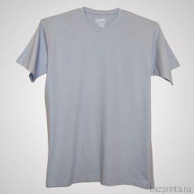 Мужская серебристая футболка без рисунка MODERN