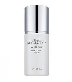 Missha Time Revolution White Cure Blanc Control Essence 40ml - Осветляющая анти-возрастная контролирующая эссенция