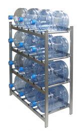 """Стеллаж для хранения бутилированной воды """"БОМИС-12"""" на 12 бутылей."""