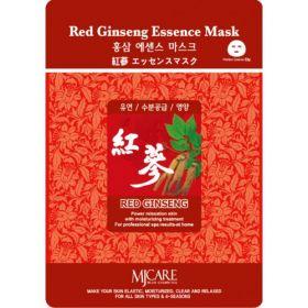 MJ CARE ESSENCE MASK -RED GINSENG-Маска тканевая с экстрактом красного женьшеня.