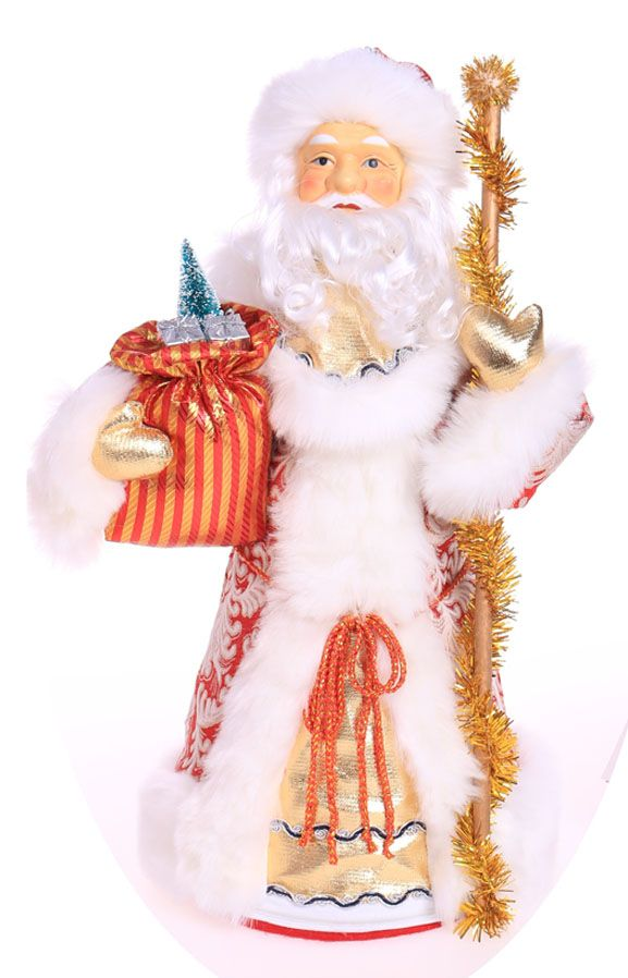 Дед Мороз с посохом высота 55см. 1500 грамм