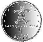 Латвия 1 лат 2004 Спридитис, вступление в ЕС