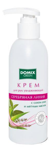 Крем для рук увлажняющий с соком алоэ, мятным маслом и наносеребром (флакон) 200 мл