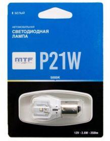 Светодиодная лампа MTF Light P21W белый