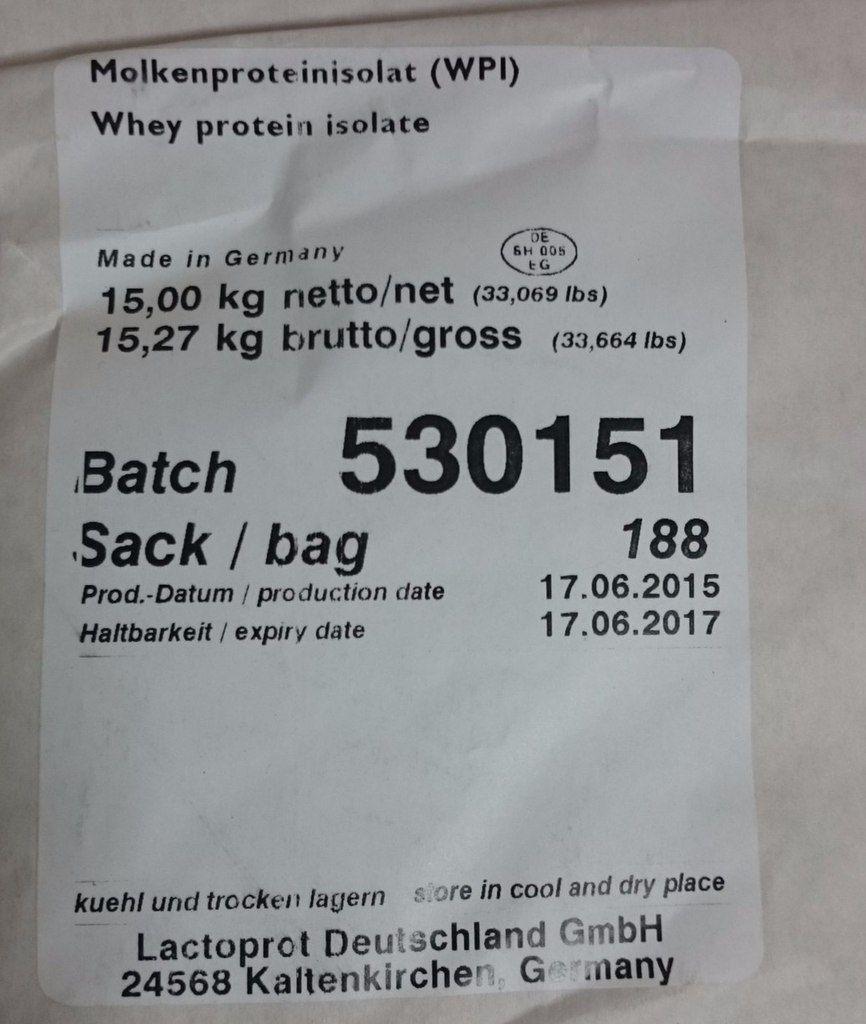 Изолят сывороточного белка 90% Lactoprot-90 (Германия) Isolate whey protein 90%