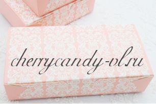 Коробка розовый ажур 23* 11,5*5 см.