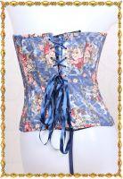 Аутентичный синий джинсовый корсет с розами
