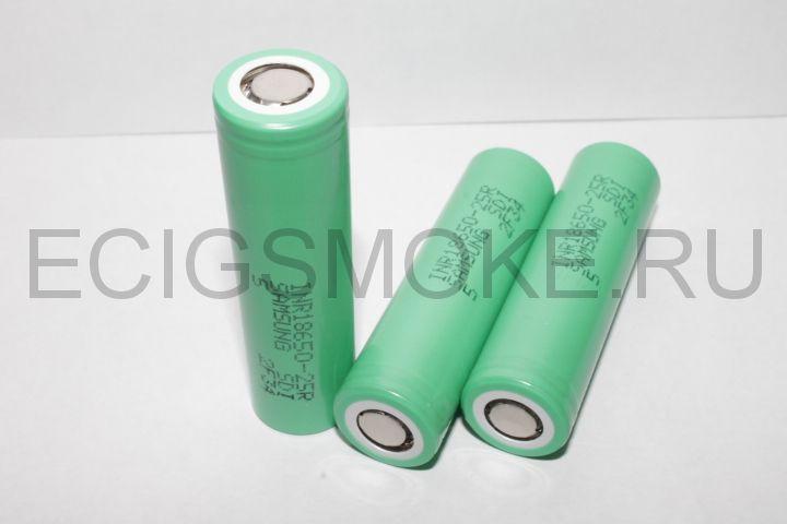 SAMSUNG INR 18650-25R GREEN (2500mAh) высокотоковый оригинал