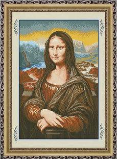 """Набор для вышивания крестом """"Мона Лиза"""" (х/б нити)"""