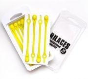 Cиликоновые шнурки для обуви Hilaces цвет Желтый/Желтый в раскрытой упаковке