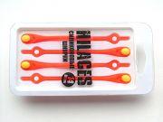 Cиликоновые шнурки для обуви Hilaces цвет Оранжевый/Желтый
