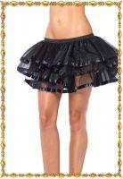 Черная многоуровневая юбка