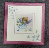 Схема для вышивки крестом Нежные иллюстрации - Ангел. Отшив