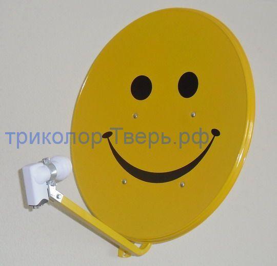 """Спутниковая антенна (тарелка) АСО диаметром 0,6-0,7 м. с рисунком """"Смайл"""""""