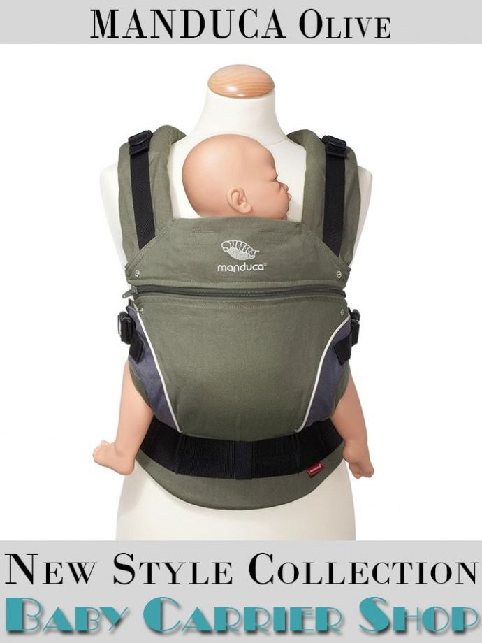 Слинг-рюкзак MANDUCA Baby And Child Carrier Эргорюкзак для переноски малышей «Olive NewStyle» [Мандука слингорюкзак Оливковый]