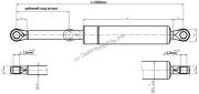 Газлифт 500N для механизма 582| СМАРТМЕБЕЛЬ.РФ