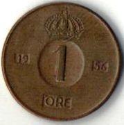 1 эре. 1956 год. Швеция.