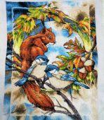 Схема для вышивки крестом Жители леса - Белка. Отшив
