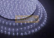 Дюралайт светодиодный, постоянное свечение(2W), холодный белый, 220В, бухта 100м