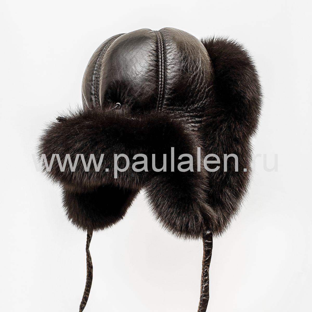 Женская шапка из меха песца
