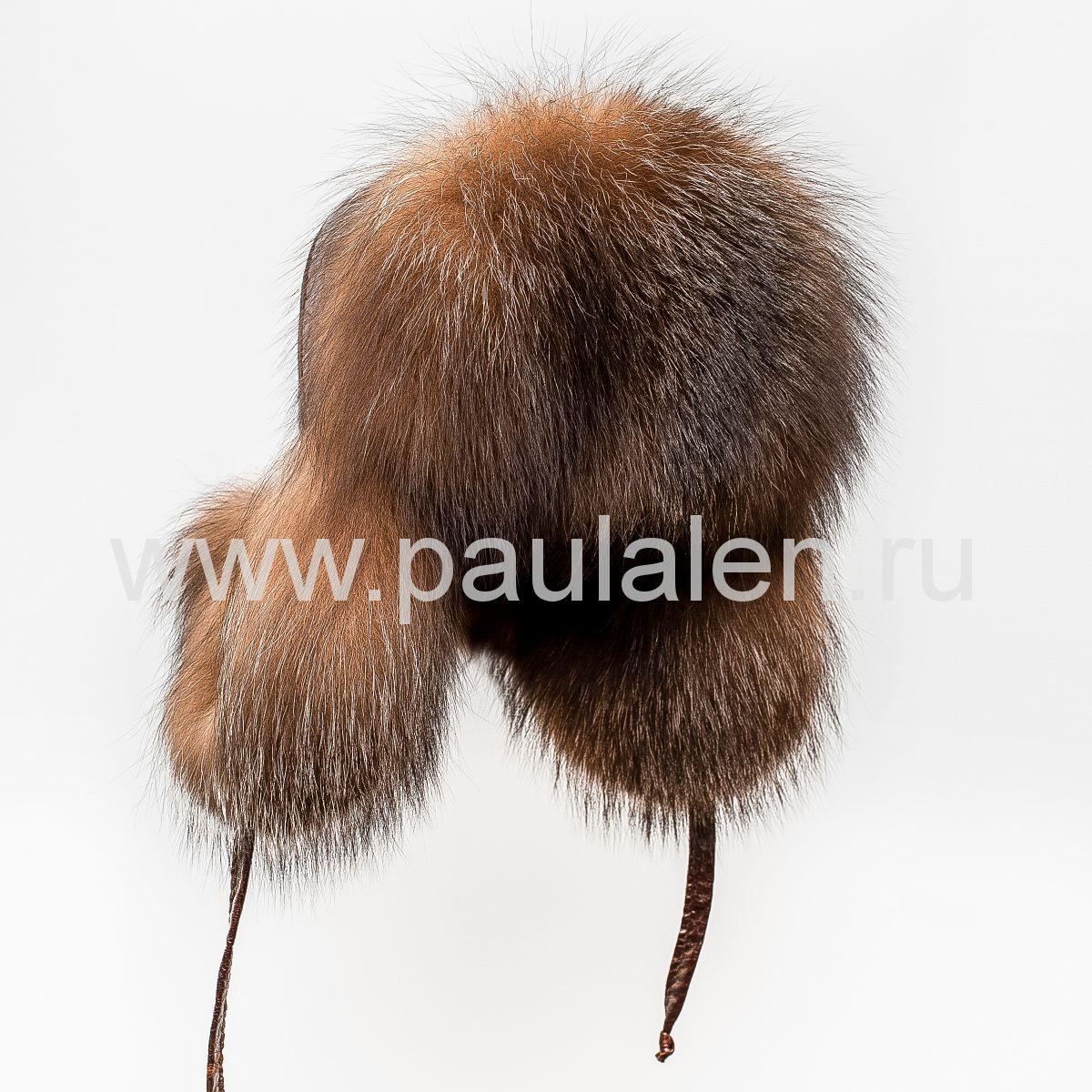 Женская шапка ушанка из меха лисы Блюфрост (Bluefrost) A009